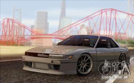 Nissan Silvia S13 Vertex para GTA San Andreas traseira esquerda vista