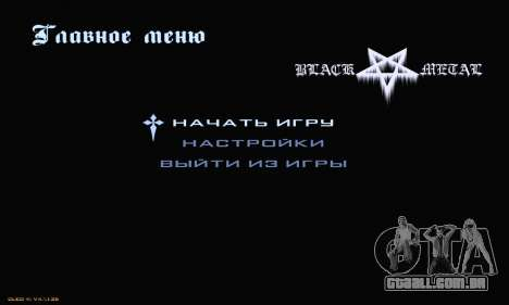 Black Metal Menu para GTA San Andreas segunda tela