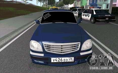 GAZ 31105 para GTA San Andreas esquerda vista