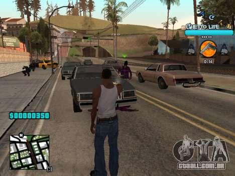 C-HUD new A.C.A.B para GTA San Andreas terceira tela