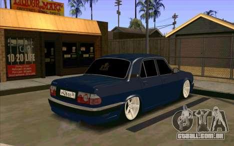 GAZ 31105 para GTA San Andreas vista traseira