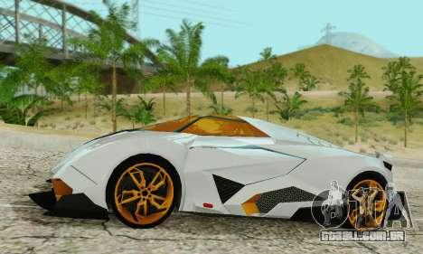 Lamborghini Egoista para GTA San Andreas esquerda vista