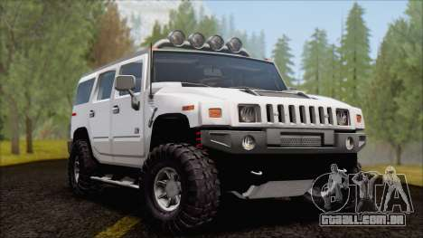 Hummer H2 Tunable para GTA San Andreas vista interior
