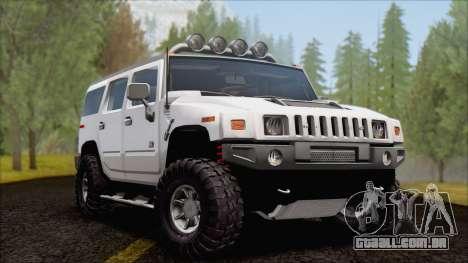 Hummer H2 Tunable para GTA San Andreas vista interior