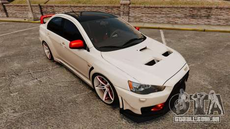 Mitsubishi Lancer Evolution X FQ400 (Cor Rims) para GTA 4 vista inferior