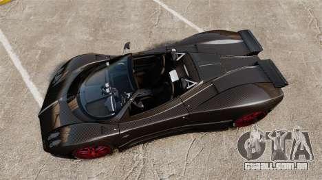 Pagani Zonda C12 S Roadster 2001 PJ3 para GTA 4 vista direita