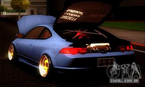 Acura RSX Stance para GTA San Andreas esquerda vista