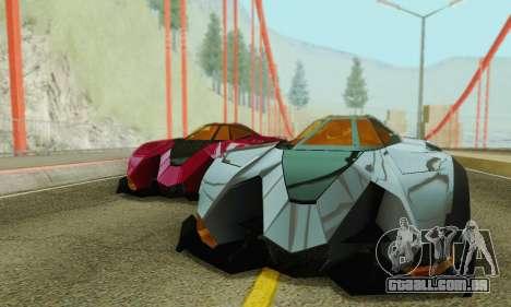 Lamborghini Egoista para GTA San Andreas