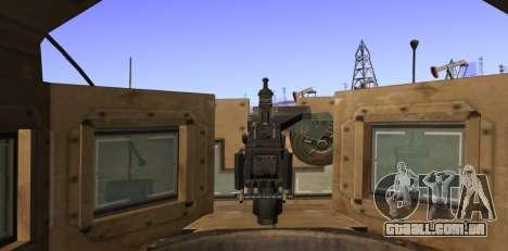 M-ATV из Call of Duty: Ghosts para vista lateral GTA San Andreas
