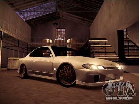 Nissan Silvia S15 Stanced para GTA San Andreas vista traseira