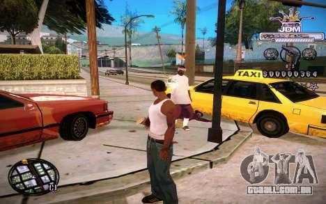 C-HUD JDM para GTA San Andreas segunda tela