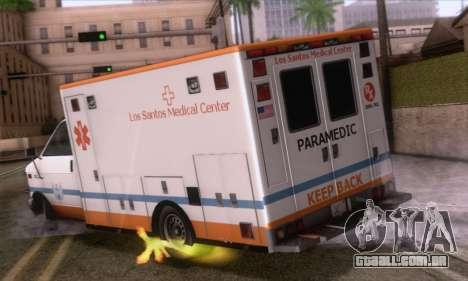 GTA 5 Ambulance para GTA San Andreas esquerda vista