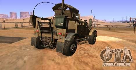 M-ATV из Call of Duty: Ghosts para GTA San Andreas esquerda vista