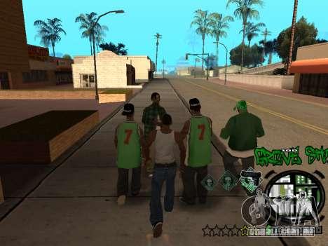 C-HUD Groove Street para GTA San Andreas oitavo tela