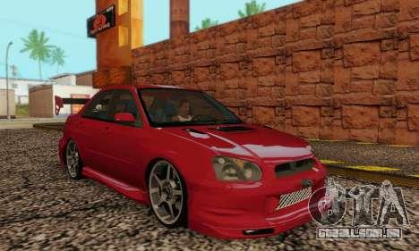 Subaru Impreza WRX Estoque para GTA San Andreas vista traseira