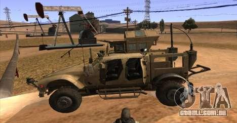 M-ATV из Call of Duty: Ghosts para GTA San Andreas vista traseira