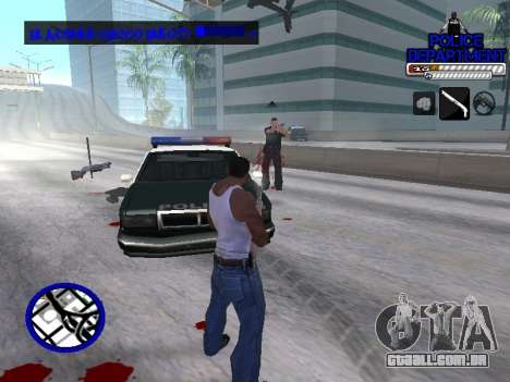 С-Hud Do Departamento De Polícia De para GTA San Andreas por diante tela