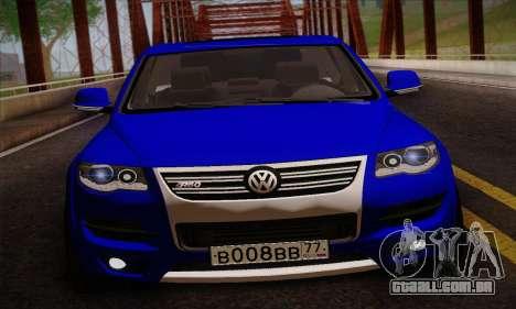 Volkswagen Touareg 2010 para GTA San Andreas traseira esquerda vista
