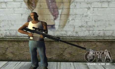 Barrett M82 para GTA San Andreas terceira tela