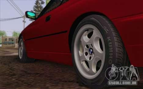 BMW 850CSi E31 1996 para GTA San Andreas traseira esquerda vista