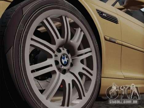BMW M3 E46 2005 para GTA San Andreas vista interior
