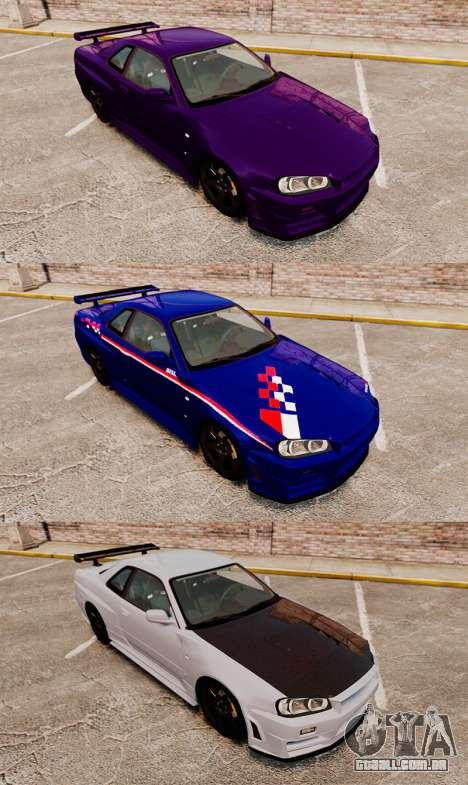 Nissan Skyline R34 Nismo Z-Tune para GTA 4 vista superior
