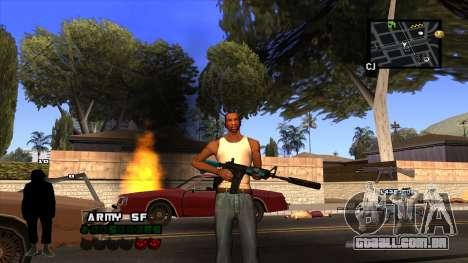 C-HUD Army para GTA San Andreas por diante tela