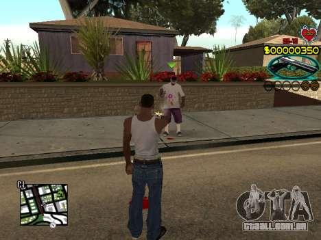 C-HUD Guns para GTA San Andreas por diante tela