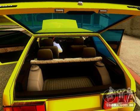 VAZ 2108 Tuneable para GTA San Andreas vista interior
