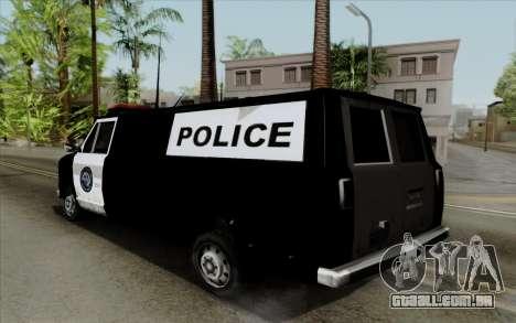 S.W.A.T van para GTA San Andreas esquerda vista