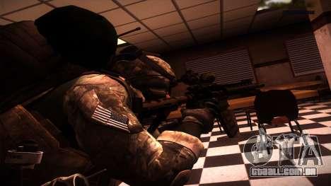 Ranger из Call Of Duty: Ghosts para GTA San Andreas segunda tela