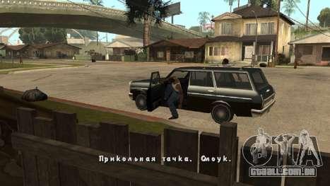 Nova fonte V.2 para GTA San Andreas por diante tela