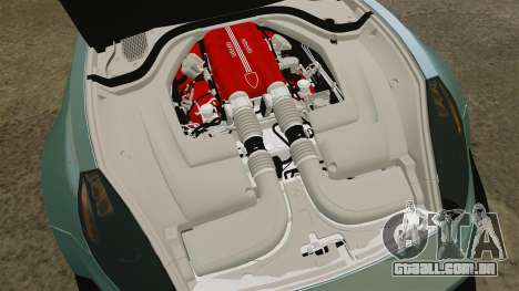 Ferrari California para GTA 4 vista interior