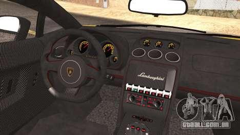 Lamborghini Gallardo LP570-4 Edizione Tecnica para GTA San Andreas vista inferior