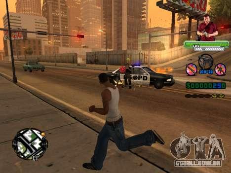 C-HUD Michael (GTA V) para GTA San Andreas por diante tela