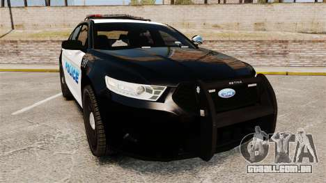 Ford Taurus Police Interceptor 2013 [ELS] para GTA 4