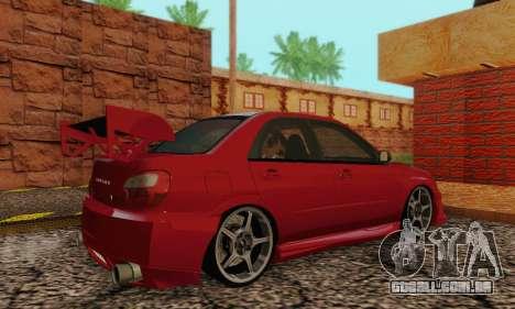 Subaru Impreza WRX Estoque para GTA San Andreas vista direita