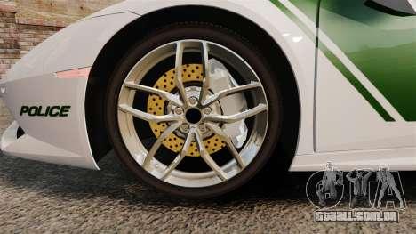 Lamborghini Huracan Cop [ELS] para GTA 4 vista de volta