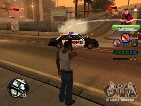 C-HUD Michael (GTA V) para GTA San Andreas quinto tela
