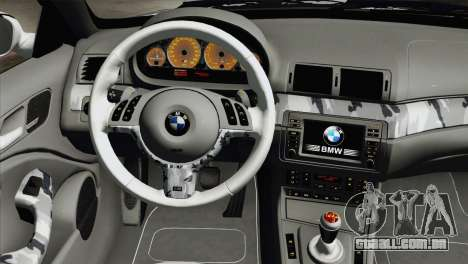 BMW M3 E46 Camo para GTA San Andreas vista direita