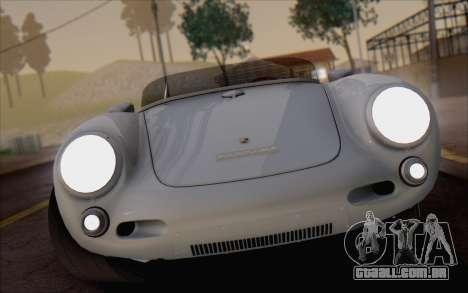 Porsche 550 Spyder 1955 para GTA San Andreas vista traseira