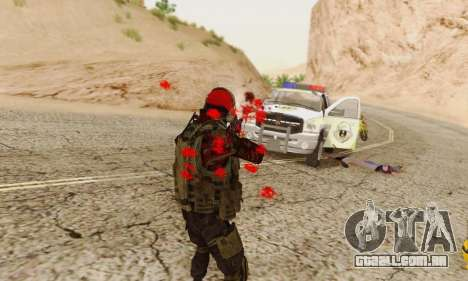 Blood On Screen para GTA San Andreas sexta tela