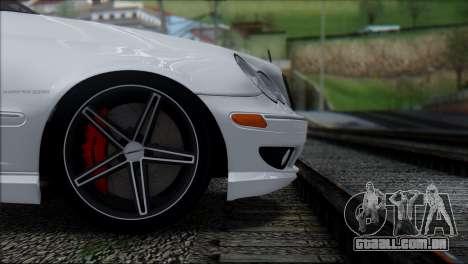Mercedes-Benz C32 Vossen para GTA San Andreas vista traseira