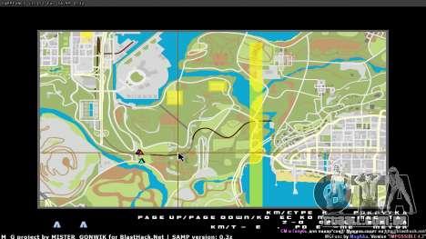 Mapa em tempo real para GTA San Andreas segunda tela
