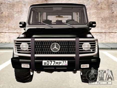 Mercedes-Benz G500 para GTA San Andreas vista interior