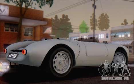 Porsche 550 Spyder 1955 para GTA San Andreas esquerda vista