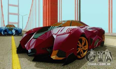 Lamborghini Egoista para GTA San Andreas vista inferior