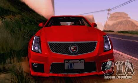 Cadillac CTS-V Sedan 2009-2014 para o motor de GTA San Andreas