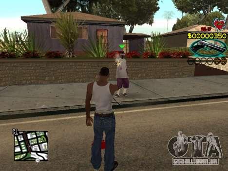 C-HUD Guns para GTA San Andreas terceira tela