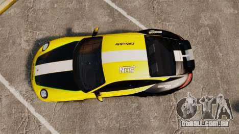 Porsche 911 Sport Classic 2010 RACE para GTA 4 vista direita